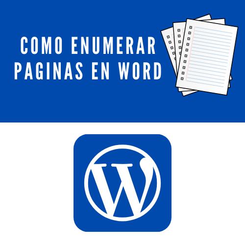 Como enumerar paginas en word