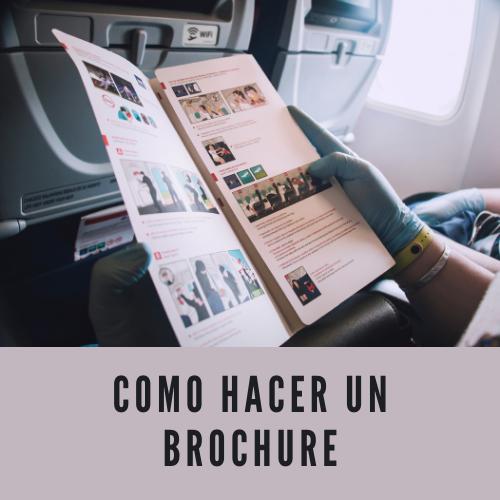 Como hacer un brochure