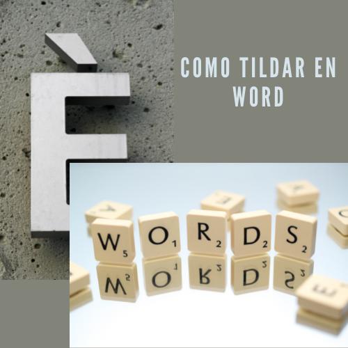 Como tildar en word