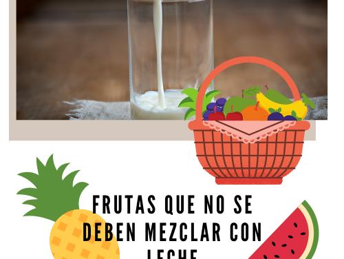 Frutas que No se Deben Mezclar con Leche