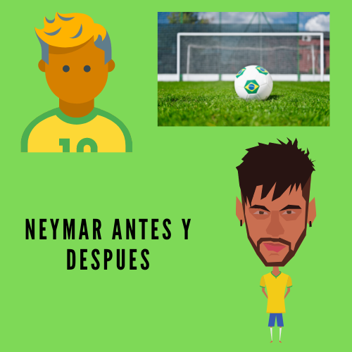 Neymar Antes y Después