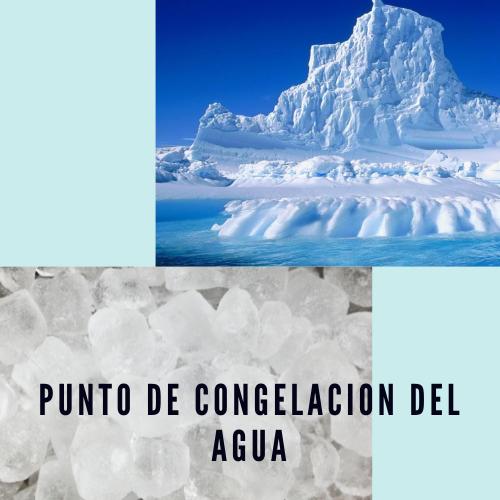 Punto de congelacion del agua