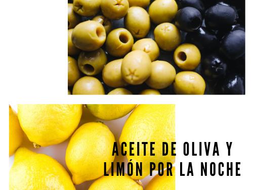 Aceite de oliva y limón por la noche