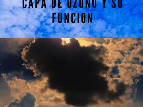Capa de ozono y su funcion