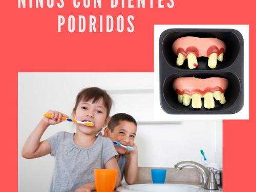 Niños con dientes podridos